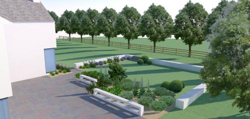 Limestone Patio & Modern Garden Design in Ballylanders, Co. Limerick