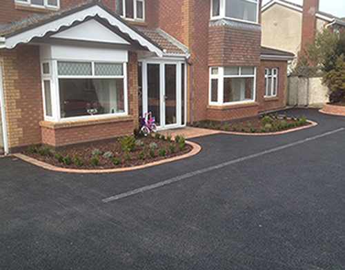 Tarmacadam and Kerbing with Drainage Solution