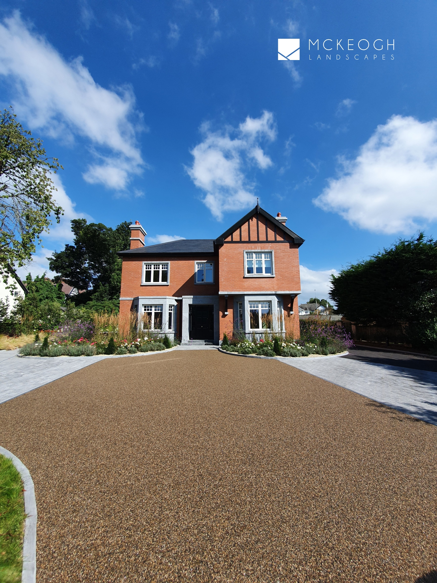 Resin bound driveway at this Limerick city home