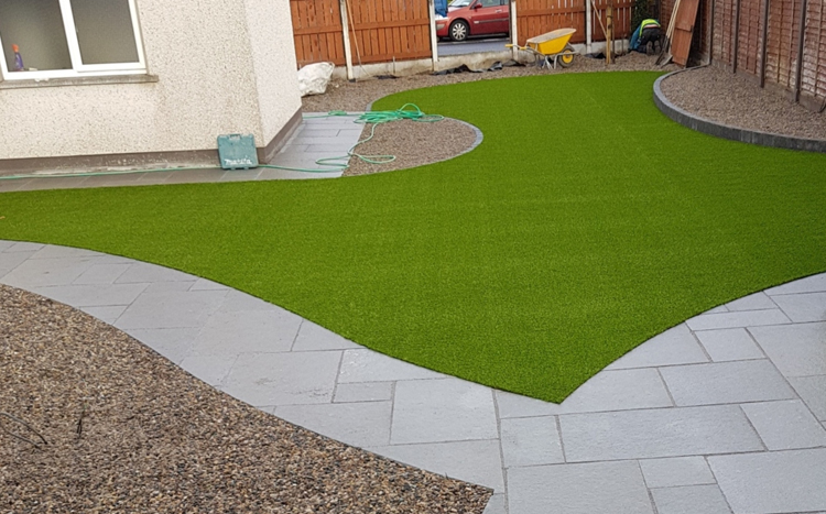 Artificial Grass and paving - McKeogh Landscapes
